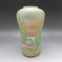 コラレン田舎風景文花瓶