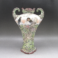 盛り上げ燕文マッスル型花瓶