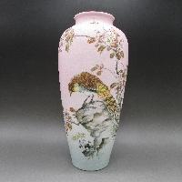 鮫肌鳥文花瓶