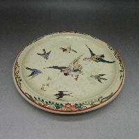 色絵鳥図鉢